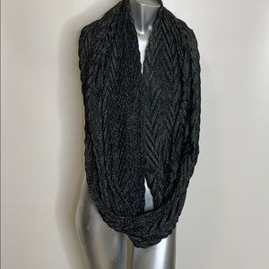 Black & silver glitter neck wrap new without tags